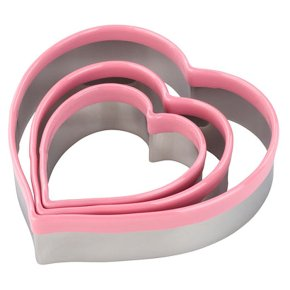 Tala stainless steel heart cutters, set of 3