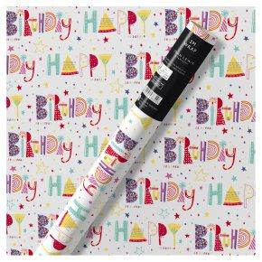 Waitrose Gift Wrap Happy Birthday
