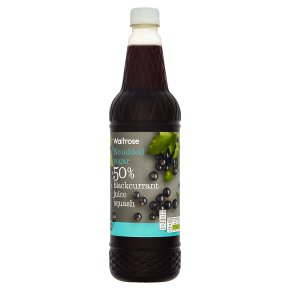 Waitrose no added sugar high juice 50% fruit blackcurrant squash