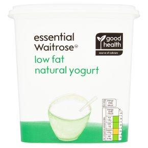 essential Waitrose natural low fat yogurt