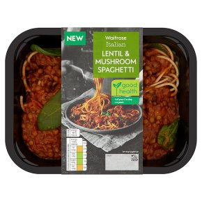 Waitrose Italian Vegan Lentil & Mushroom Spaghetti