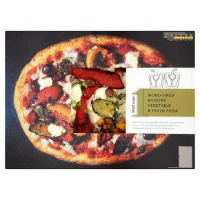 Waitrose 1 wood-fired roasted vegetable & pesto pizza