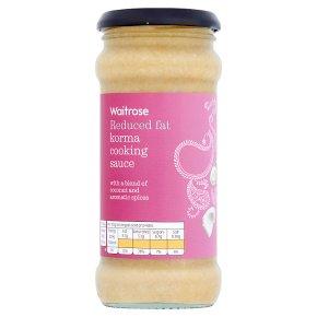 Waitrose half fat korma sauce