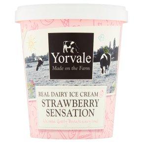 Yorvale ice cream strawberry