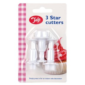 Tala star plunger cutters, set of 3