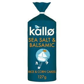 Kallo Sea Salt & Balsamic Vinegar Rice Cakes