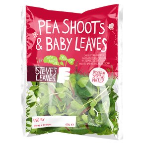 Steve's Leaves Pea Shoots, Baby Spinach & Baby Chard