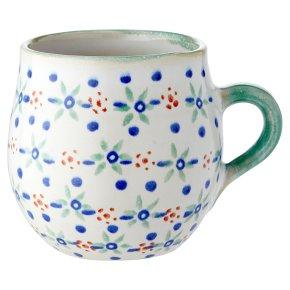 Waitrose Green & Blue Floral Mug