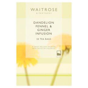 Waitrose LoveLife 20 dandelion, fennel & ginger infusion tea bags