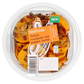 Waitrose World Deli Yellow Courgette, Red Pepper, Herbs