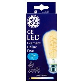 GE LED Filament Heliax Pear Gold