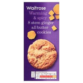 Waitrose 8 Stem Ginger All Butter Cookies