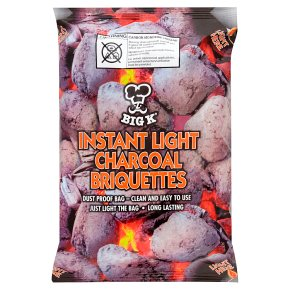 Big K Instant Light Charcoal Briquettes