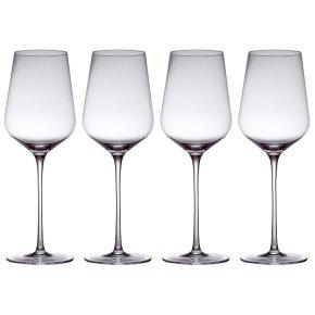 from Waitrose white wine crystal glasses, pack of 4