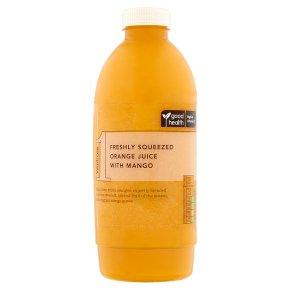 Waitrose 1 freshly squeezed orange juice with mango