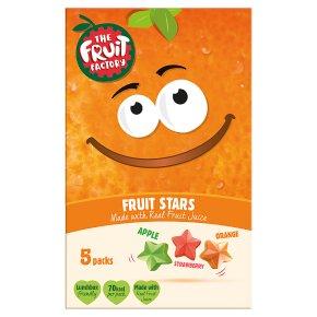 The Fruit Factory mango, strawberry & apricot fruit stars