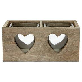 Waitrose Heart Tealight Holder