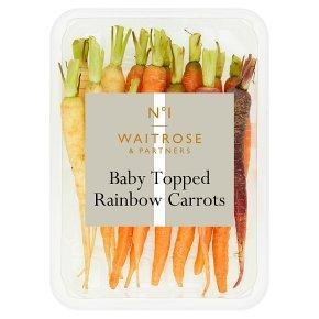 Waitrose 1 Baby Rainbow Carrots