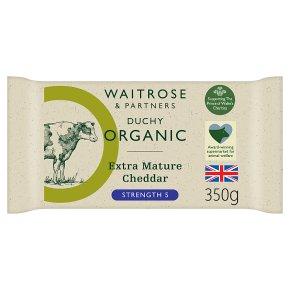 Waitrose Duchy Organic extra mature Cheddar cheese, strength 6