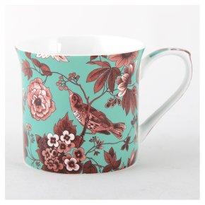 V&A garden birds teal mug