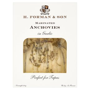 H. Forman & Son marinated anchovies with garlic