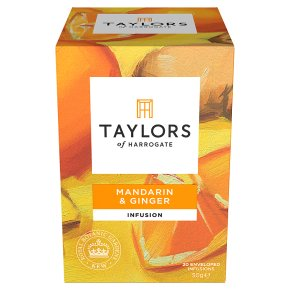 Taylors Mandarin & Ginger wrapped tea bags, 20 pack
