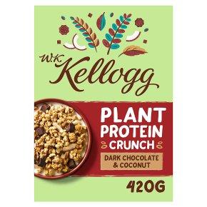 W.K Kellogg Plant Protein Crunch Chocolate Coconut
