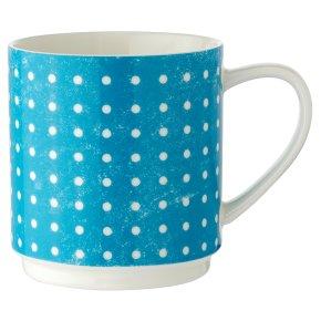 Waitrose Blue Dot Stacker Mug