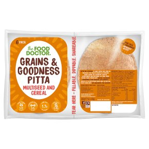 The Food Doctor multi seed & cereal pitta bread