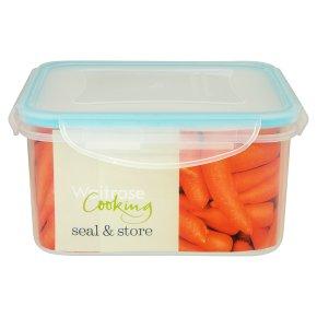 Waitrose Seal & Store 1.2 litre square container