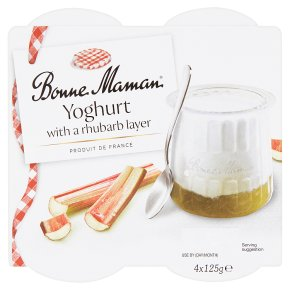 Bonne Maman Yoghurt with a Rhubarb Layer