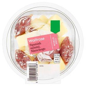 Waitrose World Deli Spanish Salami, Manchego