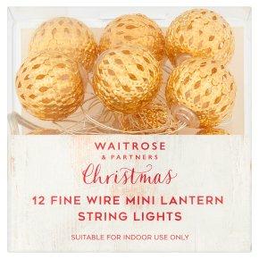 Waitrose Fine Wire Mini Lantern Lights