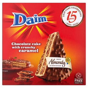 daim chocolate cake with crunchy caramel gluten free waitrose. Black Bedroom Furniture Sets. Home Design Ideas