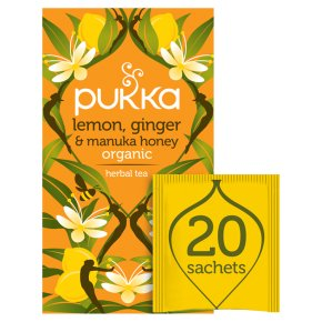 Pukka Lemon, Ginger & Manuka, Honey 20s