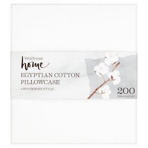 Waitrose Home chalk white Egyptian cotton pillowcase