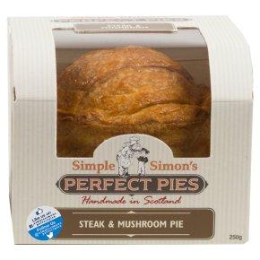 Simple Simon's Beef & Mushroom Pie