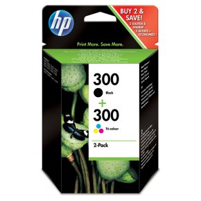 HP 300 black & colour ink cartridge, pack of 2