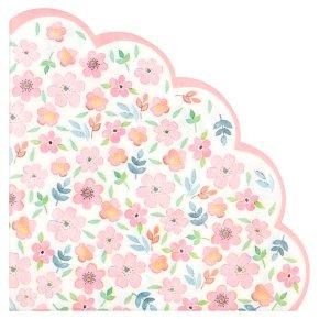 Table Fun Floral Scallop Napkins