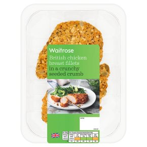 Waitrose Breast Fillets in a Crunchy Seeded Crumb