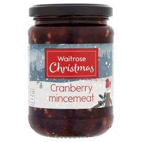 Waitrose Christmas cranberry mincemeat