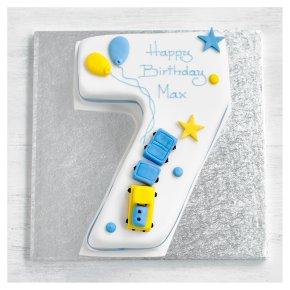 7th Birthday Train Cake