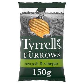 Tyrrells furrows sea salt & vinegar crisps