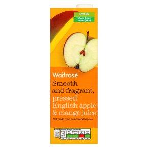 Waitrose pure pressed english apple & mango juice