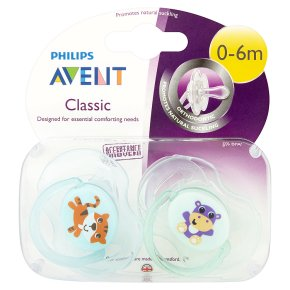 Avent Classic Soothers 0-6m