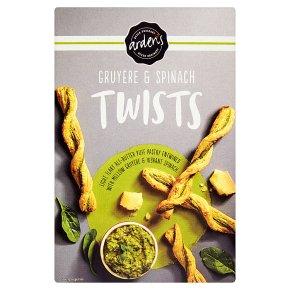 Arden's gruyère & spinach twists