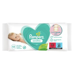 Pampers Complete Clean Baby Wipes Unscented Single Pack (64)