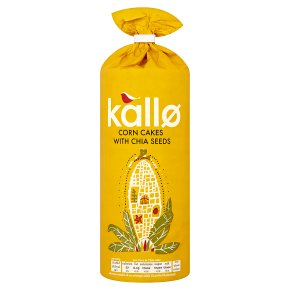 Kallo Corn Cakes With Chia Seeds