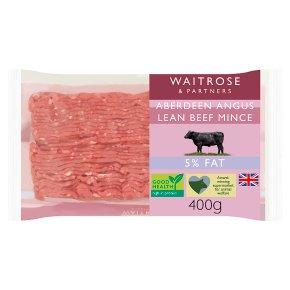 Waitrose Aberdeen Angus lean mince beef, 5% fat