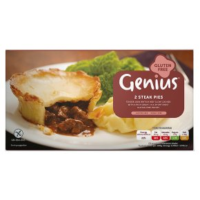 Genius Gluten Free 2 Steak Pies
